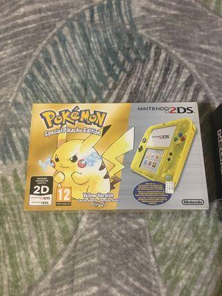 Nintendo 2ds edición pikachu sin estrenar