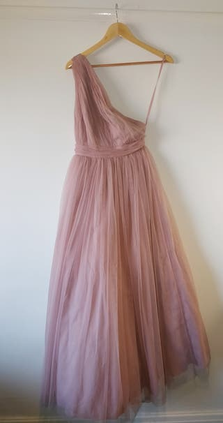 One shoulder Pink Ball Gown / Maxi dress