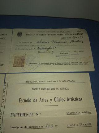 Notas Escuela Arte Oficios Valencia