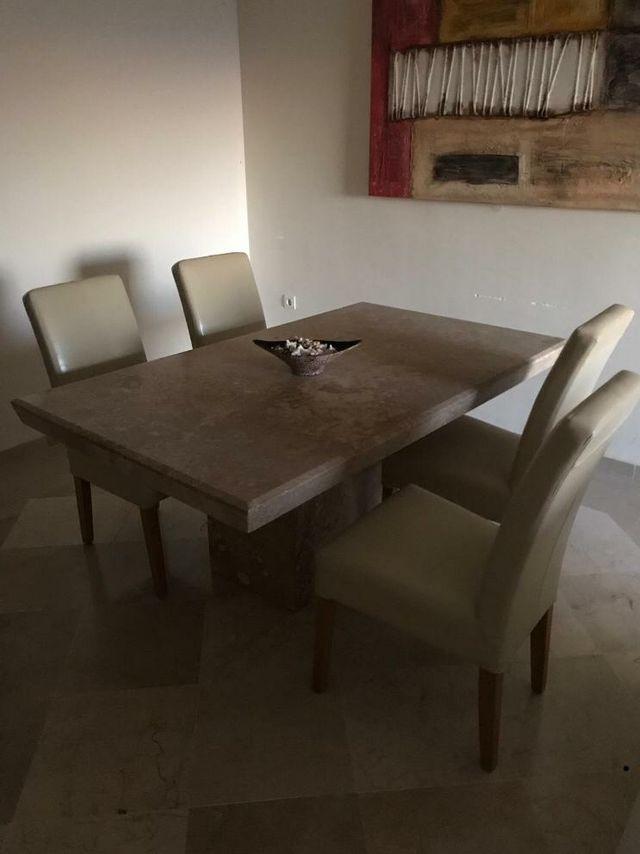 lote mesas de marmol travertino