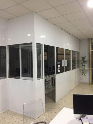 Mamparas divisorias de aluminio