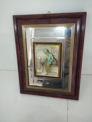 cuadro de espejo mural