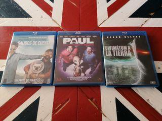 tres películas Blu-Ray 5€