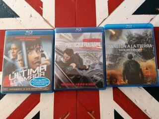 tres pelis Blu-Ray 5€
