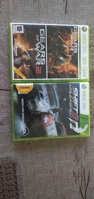 intercambio estos juegos de Xbox 360