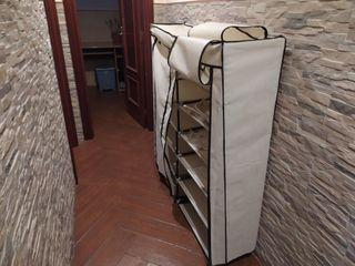 Zapatero armario de tela con dos puertas de tela