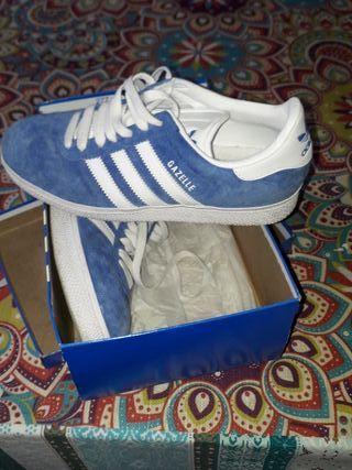 Zapatillas Adidas Gazelle 38 23 Azul de segunda mano por 30