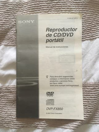 Reproductor CD/DVD portátil Sony