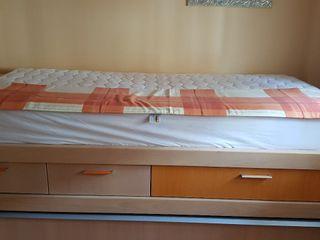cama nido juvenil con escritorio