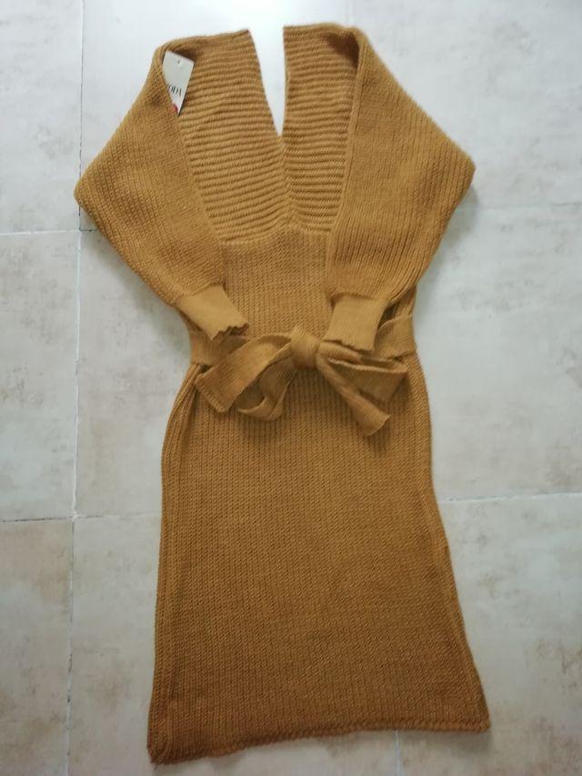 vestido mostaza de punto nuevo
