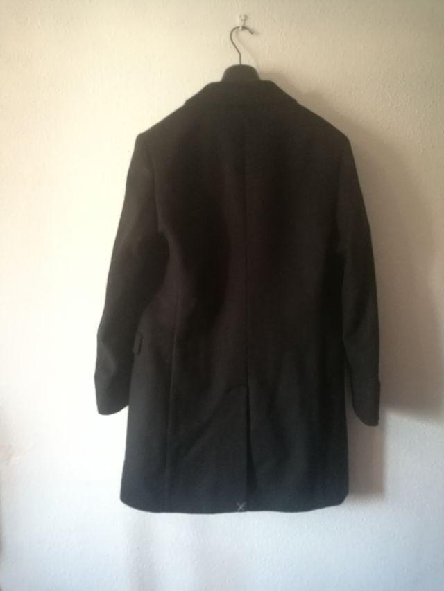 Abrigo Benetton, 100% lana, negro Talla 50, nuevo