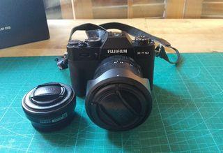 Pack Fujifilm X-T10 + 2 objetivos