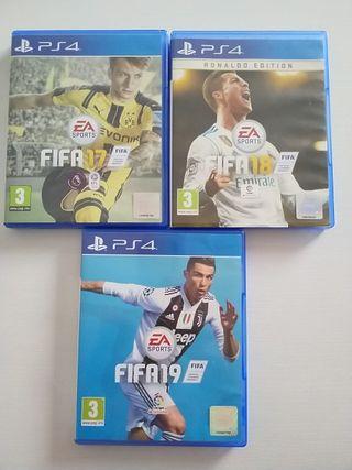 FIFA 17, FIFA 18 y FIFA 19 PS4