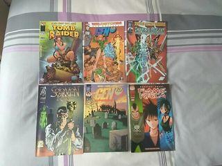 Comics a 2€ cada uno.