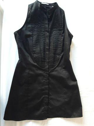 camisa sin mangas negra uterque talla S