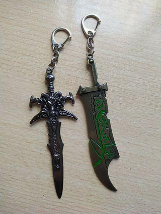 llaveros de espada