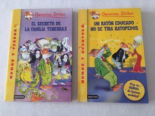 Pack 2 libros Geronimo Stilton 18 y 20