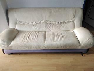 sofás de diseño piel blanco