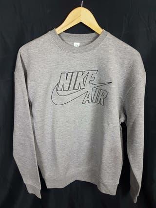 Sudadera Nike Air Bordada Gris