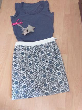 conjunto falda y camiseta