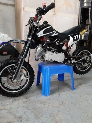 minimoto de cross 49.cc modificada