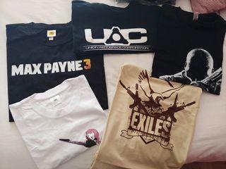 Lote de camisetas de videojuegos talla L