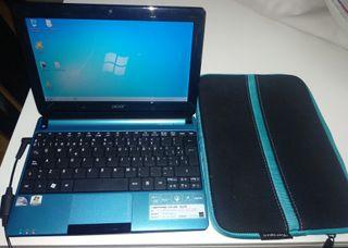 Portátil Acer Aspire D270+cargador+funda