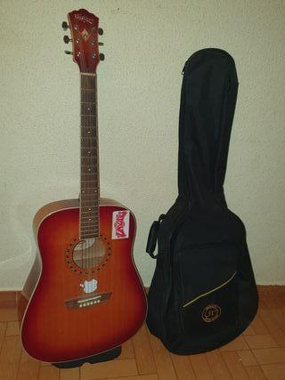 guitarra washburn con funda