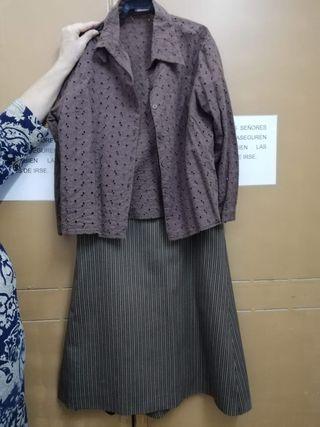 falda rociera campera de camino