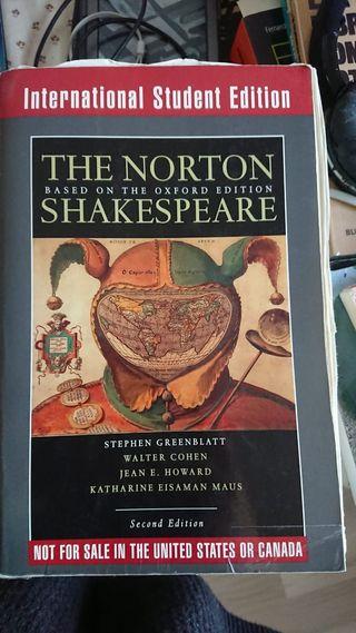 Libro de filología inglesa The Norton Shakespeare