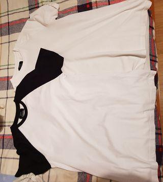 2 camisetas se berskha talla s