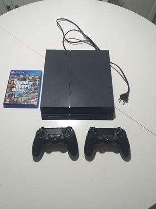 PS4 + 2 mandos + gta V