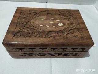 cajas joyero de madera tallada de Marruecos.