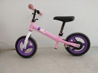 bicicleta para niños sin pedales rosa