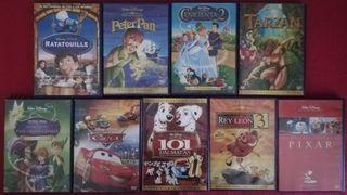 Lote 9 películas infantiles DVD