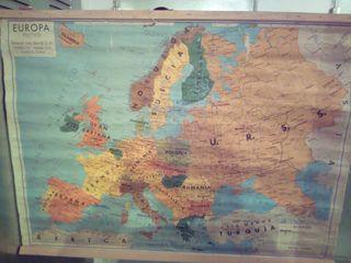 mapa antiguo Europa antigüedades