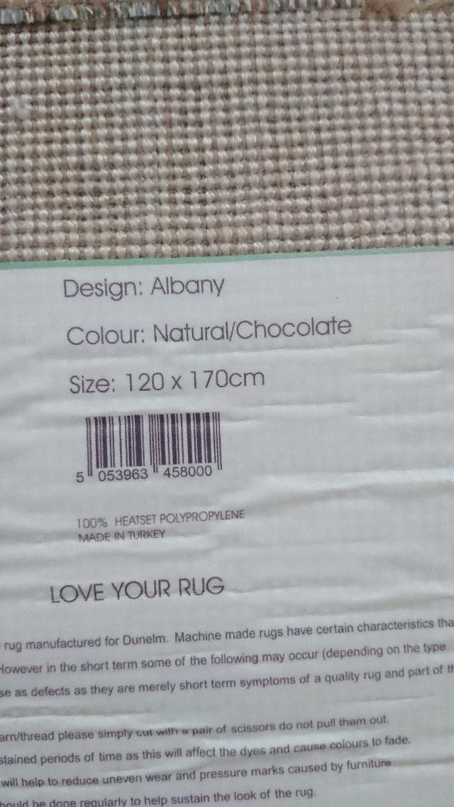 Rug by Dunelm