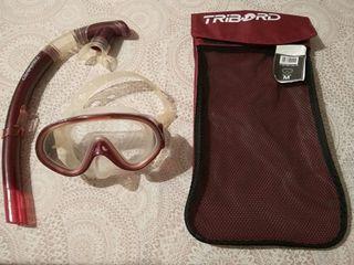 Tubo y máscara snorkel