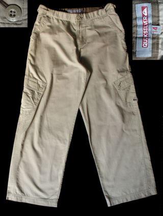 quiksilver pantalón cargo talla 14