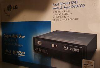 Reproductor / Grabdor Blueray, DVD y CD