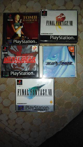 Set de juegos PSX, PS2 y Dreamcast