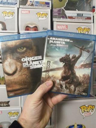 pack de peliculas de el planeta de los simios