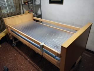 Cama eléctrica articulada colchón antiescaras