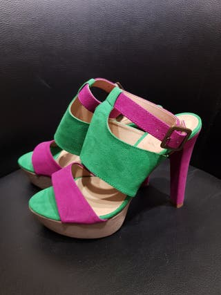 Zapatos sandalias plataforma Zara