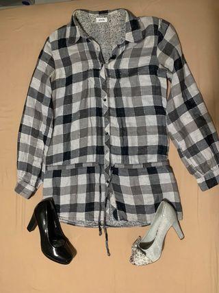 Conjunto vestido camisero + zapatos