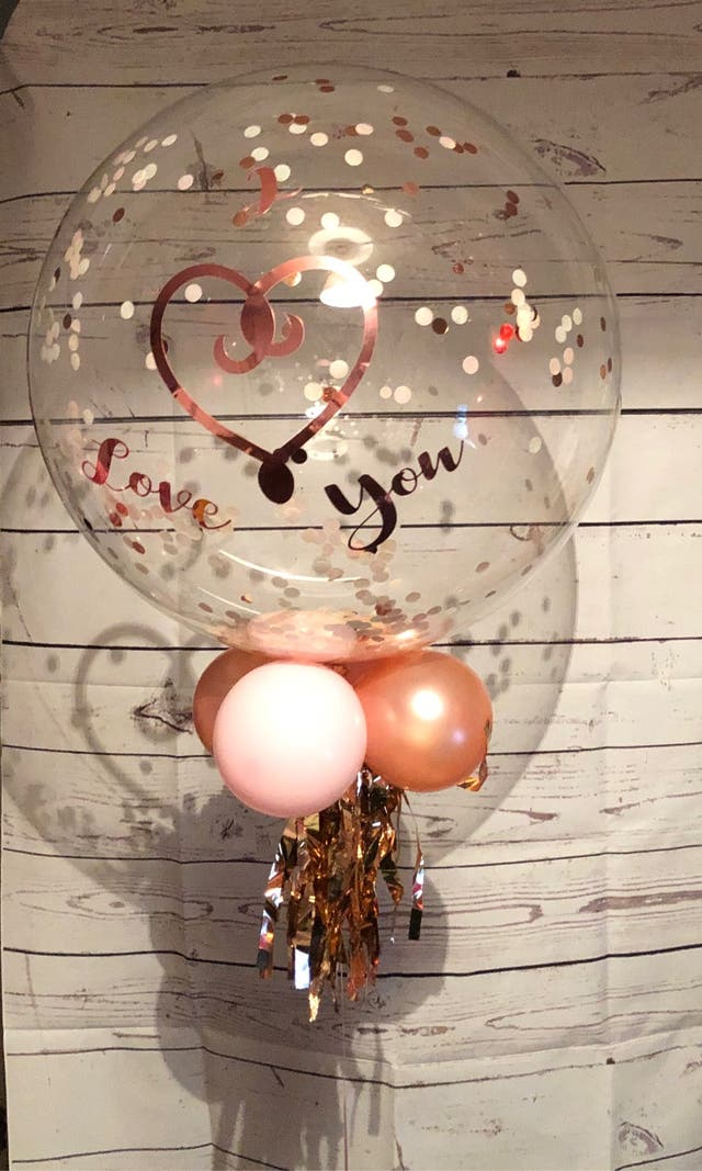 Personalised balloon gift