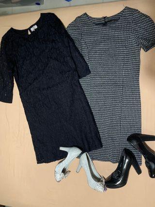Conjunto 2 vestidos + zapatos