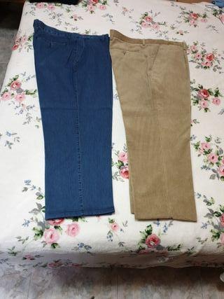 Pantalones de Pinza Nuevos,vaquero y pana