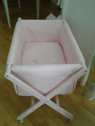 Vestidura mini cuna rosa TucTuc