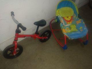 hamaca y bici bebes
